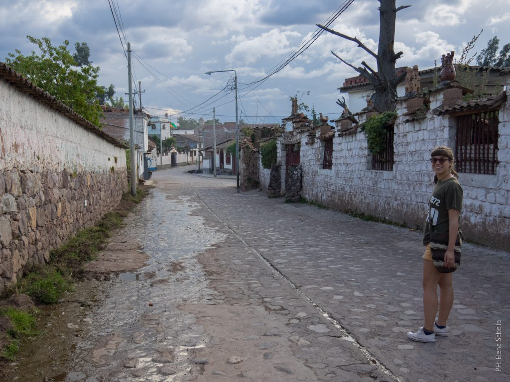 On the streets of Quinua, Peru
